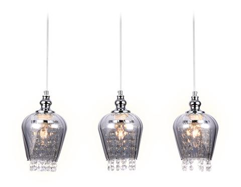 Подвесной светильник со сменной лампой TR3613/3 CH/SM хром/дымчатый E27/3 max 40W 570*140*920