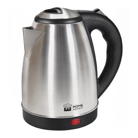 Чайник металлический HOME ELEMENT HE-KT170 черный/сталь