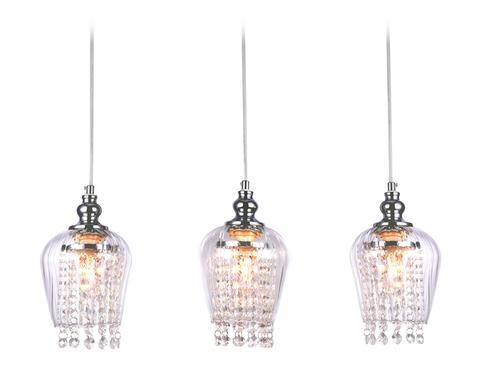 Подвесной светильник со сменной лампой TR3612/3 CH/CL хром/прозрачный E27/3 max 40W 570*140*920