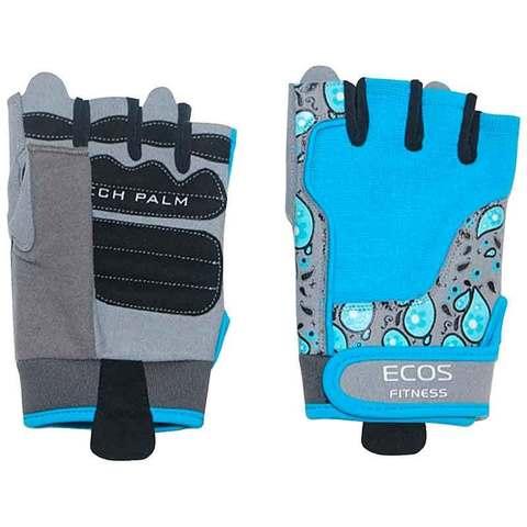 Перчатки для фитнеса, женские, цвет -голубой с принтом, размер: XL, модель: SB-16-1735