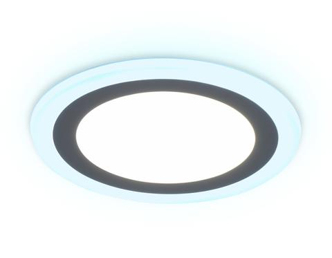 Встраиваемый cветодиодный светильник с подсветкой DCR363 6W+3W 4200K/6400K 85-265V D145*28