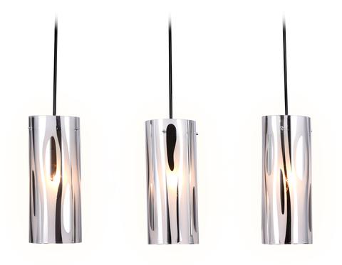 Подвесной светильник со сменной лампой TR3590/3 CH/SM хром/дымчатый E27/3 max 40W 530*100*900