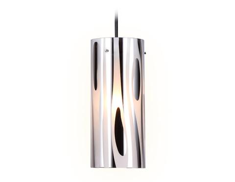 Подвесной светильник со сменной лампой TR3589 CH/SM хром/дымчатый E27 max 40W D100*1050