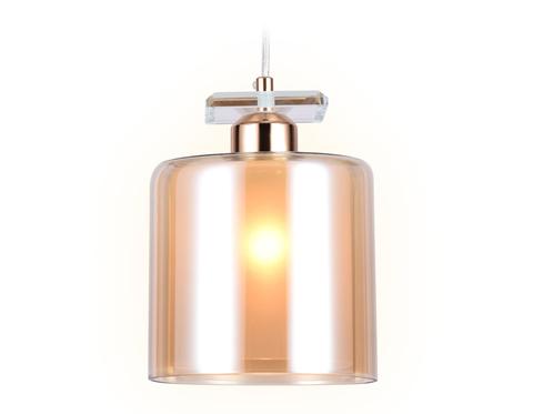 Подвесной светильник со сменной лампой TR3578 GD/TI золото/янтарь E27 max 40W D150*1025