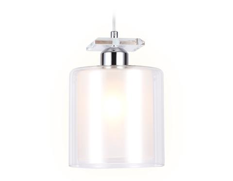 Подвесной светильник со сменной лампой TR3577 CH/CL хром/прозрачный E27 max 40W D150*1025