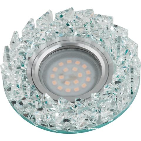 DLS-P108 GU5.3 CHROME/CLEAR Светильник декоративный встраиваемый ТМ