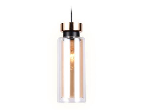 Подвесной светильник со сменной лампой TR3571 GD/TI золото/янтарь E14 max 40W D100*1050