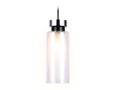Подвесной светильник со сменной лампой TR3570 CH/FR хром/матовый E14 max 40W D100*1050