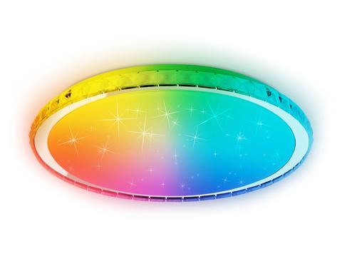 Светодиодный светильник c подсветкой RGB FF502 CH хром 80W 3000-6400K D500*70 (ПДУ ИК)