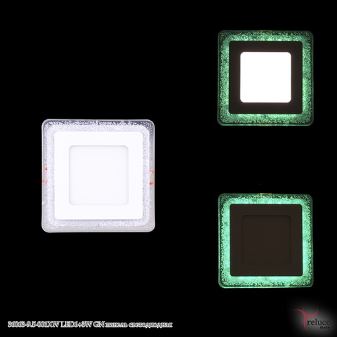 36063-9.5-001XW LED6+3W GN панель светодиодная