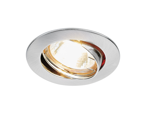 Встраиваемый точечный светильник 104S SS сатин серебро MR16