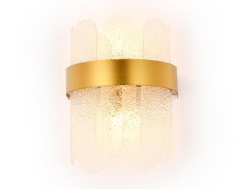 Настенный светильник с хрусталем TR5339/2 GD/FR золото/матовый G9/2 max 40W 270*200*140