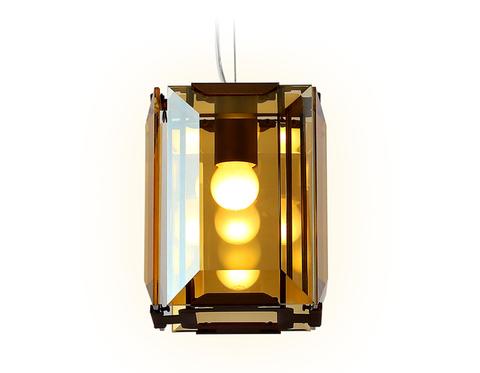 Подвесной светильник TR5109 CF/TI кофе/янтарь E27/1 max 40W 150*150*1200