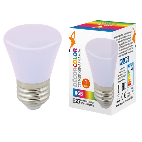 LED-D45-1W/RGB/E27/FR/С BELL Лампа декоративная светодиодная. Форма