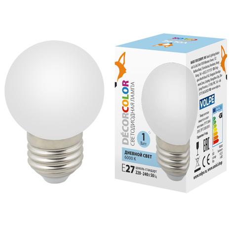 LED-G45-1W/6000K/E27/FR/С Лампа декоративная светодиодная. Форма