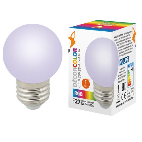 LED-G45-1W/RGB/E27/FR/С Лампа декоративная светодиодная. Форма