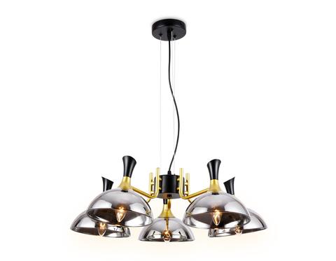 Подвесная люстра TR9082/5 BK/GD/SM черный/золото/дымчатый E27/5 max 40W D750*750