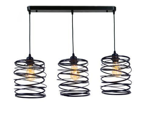 Подвесной светильник в стиле лофт TR8403/3 BK черный E27/3 max 60W 720*180*1000