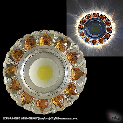 42182-9.0-001PL MR16+LED3W (2шт/кор) CL/BN светильник точ.