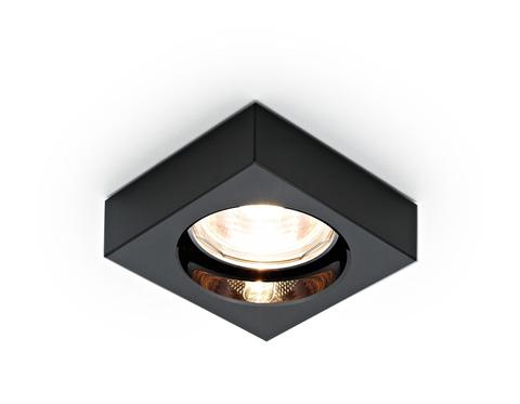 Встраиваемый точечный светильник D9171 BK черный MR16 H25 D80 mm