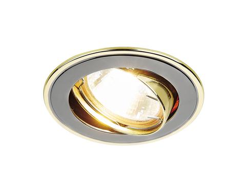 Встраиваемый точечный светильник 104A GU/G черный/золото MR16