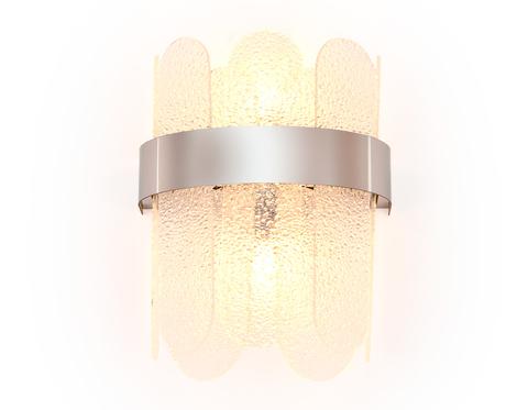 Настенный светильник с хрусталем TR5337/2 CH/FR хром/матовый G9/2 max 40W 270*200*140