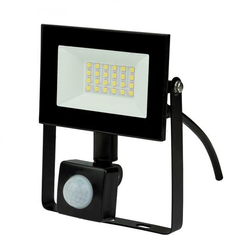 ULF-F62-30W/6500K SENSOR IP54 200-240В BLACK Прожектор светодиодный с датчиком движения и освещенности. Дневной свет (6500K). Корпус черный. TM Uniel