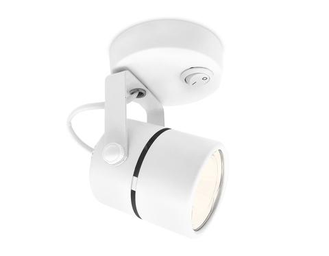 Накладной поворотный светильник с выключателем TA100 WH белый GU10 D80*130*D60