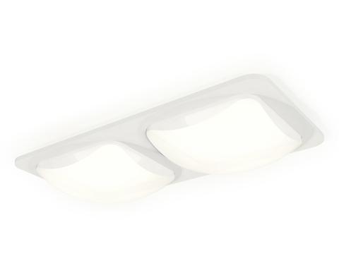 Комплект встраиваемого светильника с акрилом XC7905014 SWH/FR белый песок/белый матовый MR16 GU5.3 (C7905, N7756)