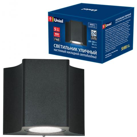 ULU-S24A-5W/4000K IP65 BLACK Светильник светодиодный уличный. Архитектурный накладной. Белый свет (4000K). Корпус черный. TM Uniel.