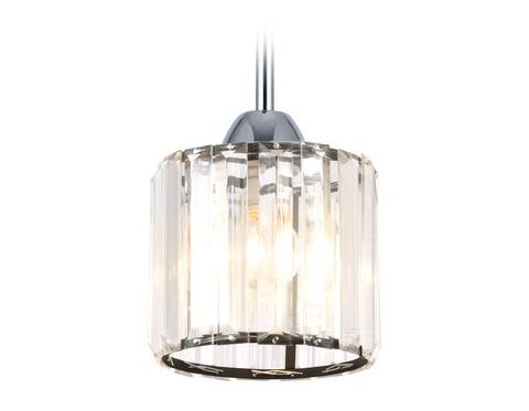 Подвесной светильник с хрусталем TR5894 BK/CL черный/прозрачный E14 max 40W D135*890