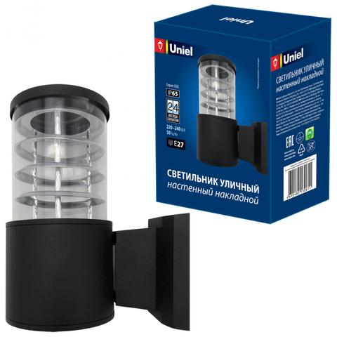 UUL-S11A 60W/E27 IP65 BLACK Светильник уличный, под лампу Е27. Архитектурный накладной. Корпус черный. TM Uniel.