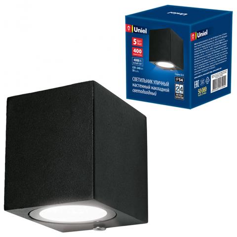ULU-S05A-5W/4000K IP54 BLACK Светильник светодиодный уличный. Архитектурный накладной. Белый свет (4000K). Корпус черный. TM Uniel.
