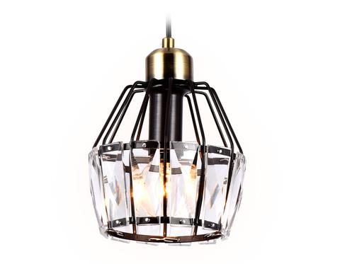 Подвесной светильник с хрусталем TR5875 DCF/SB темный кофе/бронза E14 max 40W D150*650