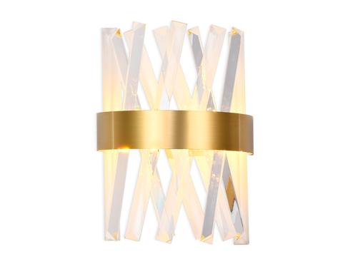 Настенный светодиодный светильник с хрусталем TR5324 GD/CL золото/прозрачный 24W 285*260*124