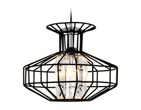 Подвесной светильник в стиле лофт TR5850 BK/CL черный/прозрачный E27 max 40W D240*1200