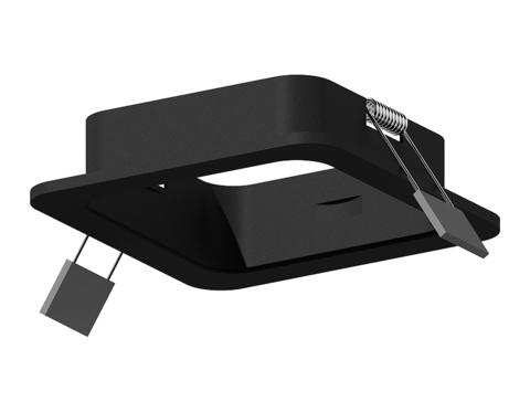 Корпус светильника встраиваемый для насадок 70*70mm C7902 SBK черный песок 90*90*H32mm MR16 GU5.3