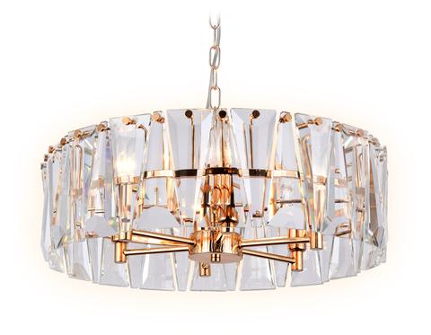 Подвесная люстра с хрусталем TR5172 GD/CL золото/прозрачный E14/6 max 40W D520*515