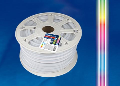 ULS-N22-5050-80LED/m-8mm-IP67-220V-10W/m-50M-RGB Светодиодная гибкая герметичная лента. NEON. Бобина 50 м. RGB. TM Uniel.