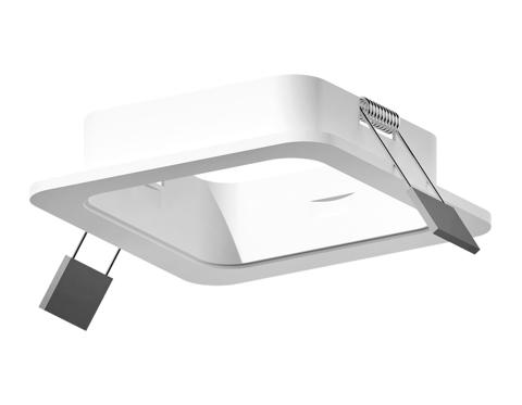 Корпус светильника встраиваемый для насадок 70*70mm C7901 SWH белый песок 90*90*H32mm MR16 GU5.3