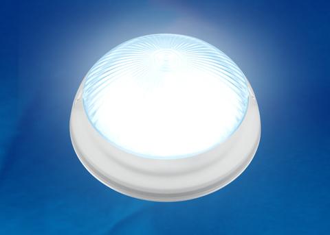 ULW-R05 12W/NW IP64 WHITE Светильник светодиодный влагозащищенный. Круг. 12Вт, 1200 Лм, Белый свет (4500K), 220В, Диаметр 21 см. Белый. ТМ Uniel