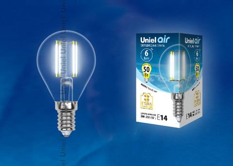 LED-G45-6W/NW/E14/CL GLA01TR Лампа светодиодная. Форма
