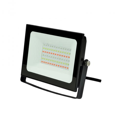 ULF-F60-30W/RGB IP65 200-240В BLACK Прожектор светодиодный. Мультиколор. Пульт ДУ (в/к). Корпус черный. TM Uniel