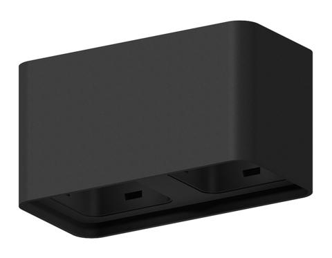 Корпус светильника накладной для насадок 70*70mm C7851 SBK черный песок 190*95*H100mm MR16 GU5.3