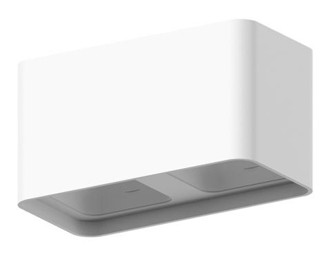 Корпус светильника накладной для насадок 70*70mm C7850 SWH белый песок 190*95*H100mm MR16 GU5.3