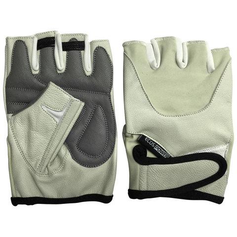 Перчатки для фитнеса 5102-BM, цвет: беж. размер: М