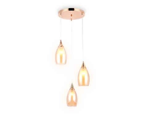 Подвесной светильник TR3549/3 GD/TI золото/янтарь E14 max 40W 370*130*1000