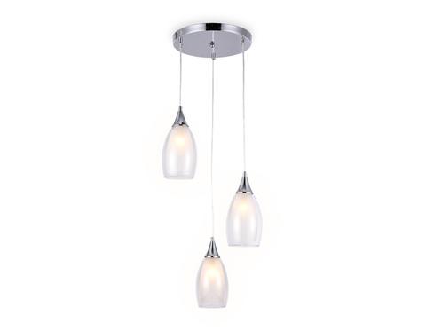 Подвесной светильник TR3548/3 CH/CL хром/прозрачный E14 max 40W 370*130*1000