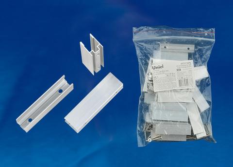 UCC-N21/C50 WHITE 025 POLYBAG Крепление для светодиодных лент ULS-N21 NEON 220В, 8x16мм. Цвет белый, 25 штук в пакете. TM Uniel.
