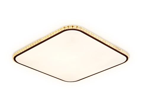 Потолочный светодиодный светильник с пультом FF76 WH/CF белый/кофе 72W+30W 490*490*60 (ПДУ ИК)